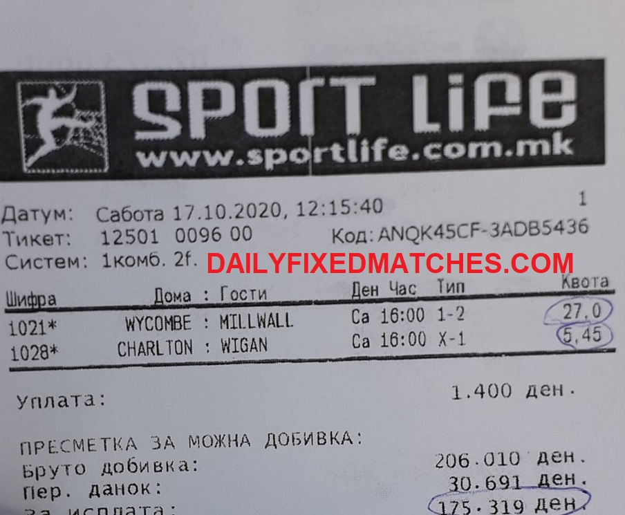 Double Fixed Matches HT FT , Sure Bet Fixed Matches Half Time Full Time